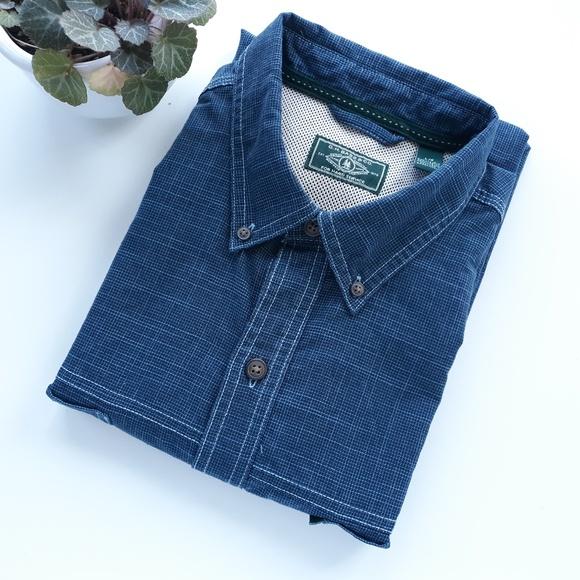 G.H. Bass & Co. Other - G.H. Bass & Co Mens Short Sleeve Shirt Size L Blue